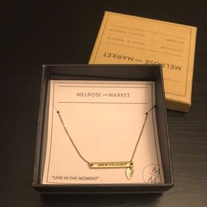 "Melrose and Market ""Live in the Moment"" Necklace"